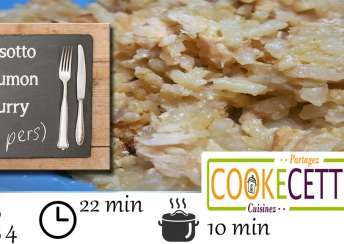 Risotto saumon curry - recette cookeo